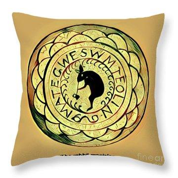 The Rabbit Magician Throw Pillow