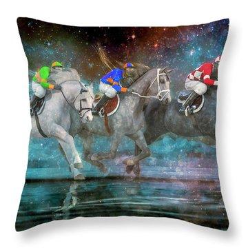 The Race Throw Pillow