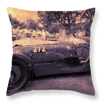 The Racer Throw Pillow