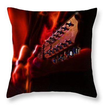The Radiant Musicians Throw Pillow by Cameron Wood