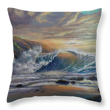 The Radiant Sea Throw Pillow by Marco Antonio Aguilar