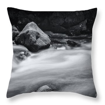 The Raging Merced River Throw Pillow