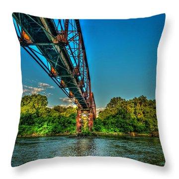The Rail Bridge Throw Pillow