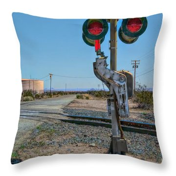 The Railway Crossing Throw Pillow