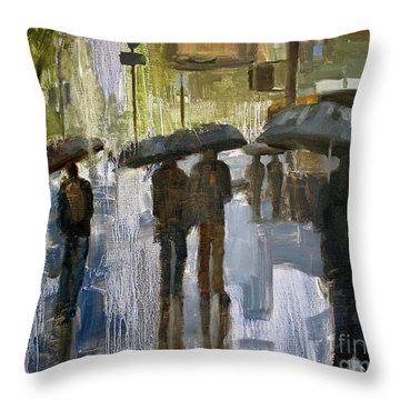 The Rain Came Throw Pillow