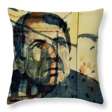 Throw Pillow featuring the painting The Rain Falls Down On Last Years Man  by Paul Lovering