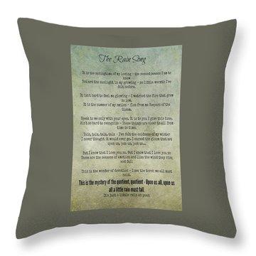 The Rain Song-led Zeppelin Throw Pillow