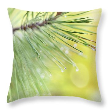 Throw Pillow featuring the photograph The Rain The Park And Other Things by John Poon