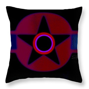 The Rainbow In Reverse Throw Pillow by Charles Stuart