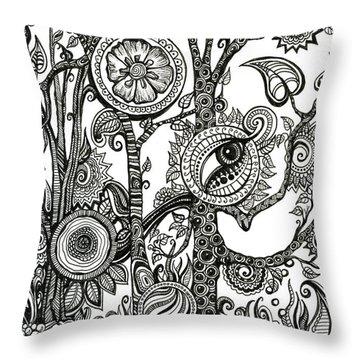 The Rainforest Throw Pillow