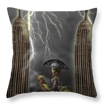 The Rainmaker Throw Pillow by Larry Butterworth