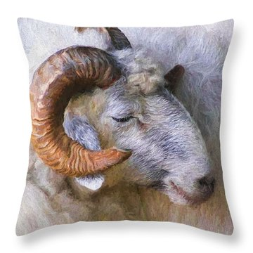 The Ram Throw Pillow