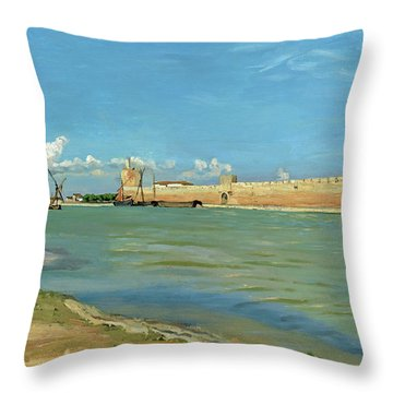 The Ramparts At Aigues Mortes Throw Pillow