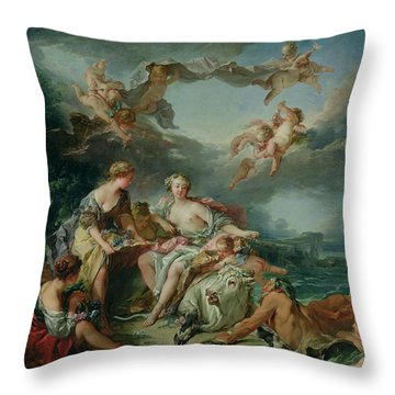 The Rape Of Europa Throw Pillow by Francois Boucher