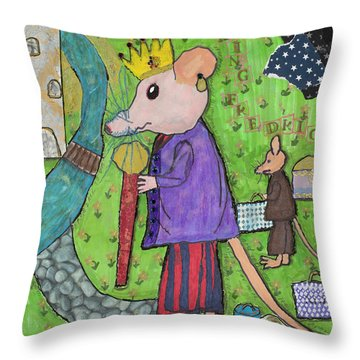 The Rat King Throw Pillow