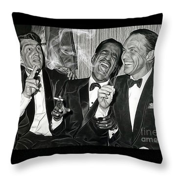 The Rat Pack Collection Throw Pillow