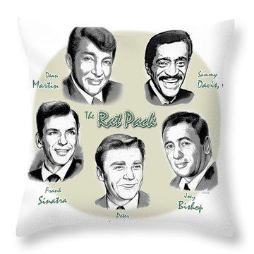 The Rat Pack Throw Pillow by Greg Joens