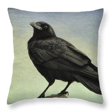 The Raven - 365-9 Throw Pillow by Inge Riis McDonald