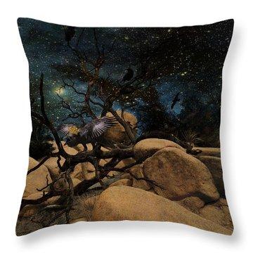 The Raven King Throw Pillow