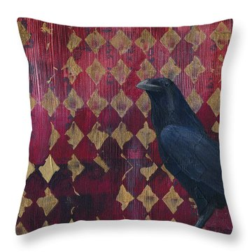 The Raven Throw Pillow