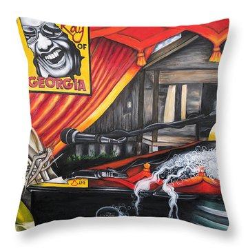 The Ray Of Georgia Unchained My Hands Throw Pillow