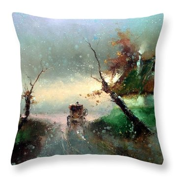 The Rays Of The Morning Sun Throw Pillow