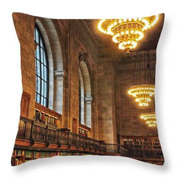 Throw Pillow featuring the photograph The Reading Room by Jessica Jenney