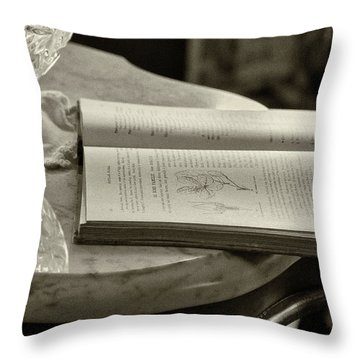 The Reading Table Throw Pillow