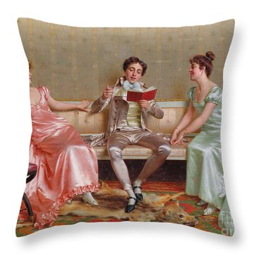 The Reading Throw Pillow