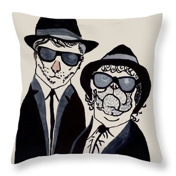 The Real Blues Brothers Throw Pillow