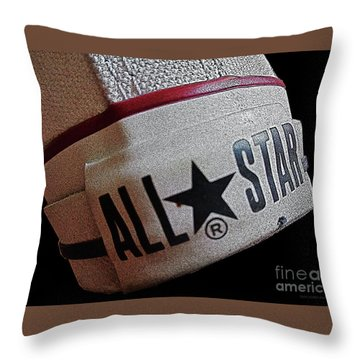 The Converse All Star Rear Label. Throw Pillow
