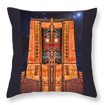 The Recycled King Throw Pillow