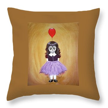 The Red Balloon Throw Pillow