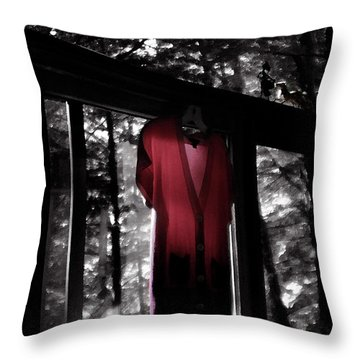 The Red Blouse Throw Pillow