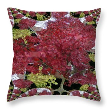 Throw Pillow featuring the photograph The Red Bushes by Skyler Tipton