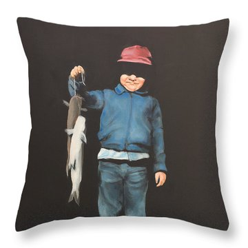 The Red Cap Throw Pillow