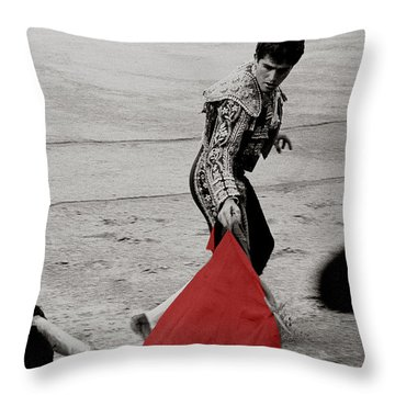 The Red Cape Throw Pillow
