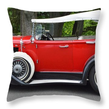 The Red Convertible Throw Pillow