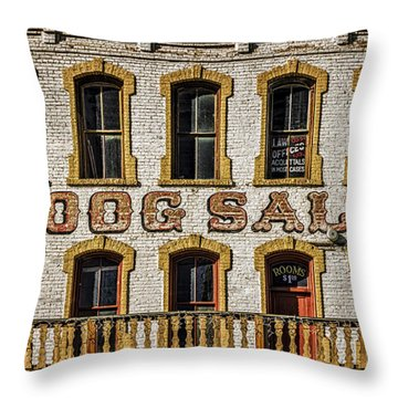 Throw Pillow featuring the photograph The Red Dog by Mitch Shindelbower