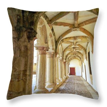 The Red Door In The Loggia Throw Pillow by Kirsten Giving