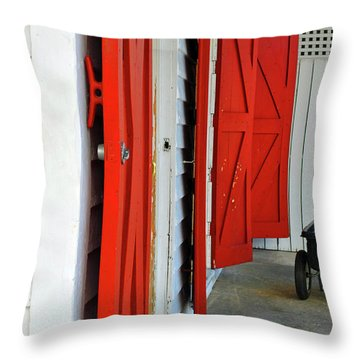 Throw Pillow featuring the photograph The Red Doors by Jost Houk