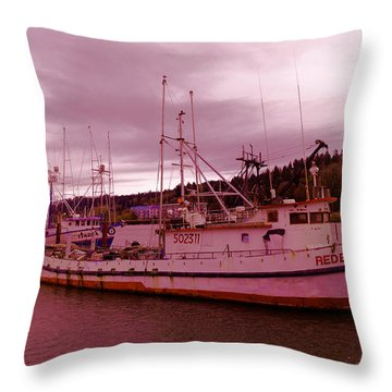 The Red Eagle Rests Throw Pillow