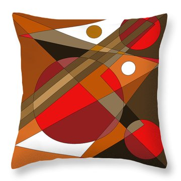 The Red Eye Throw Pillow