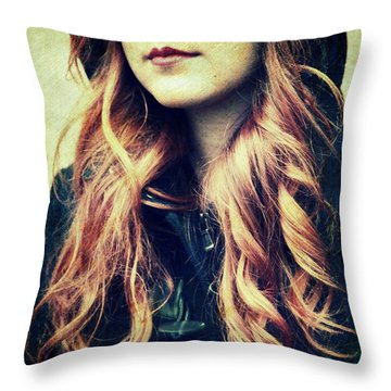 The Red-haired Girl Throw Pillow