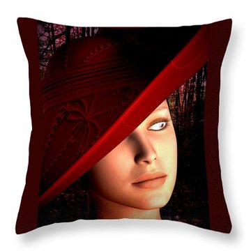 The Red Hat Throw Pillow