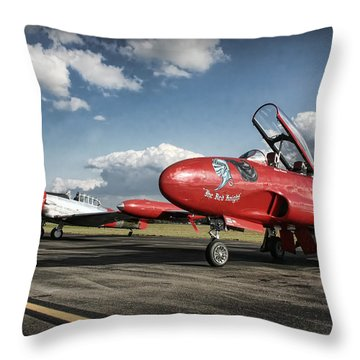 The Red Knight Throw Pillow