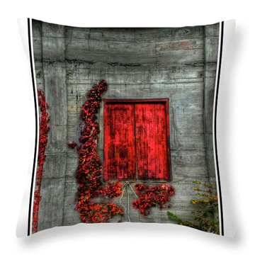 The Red Loft Throw Pillow