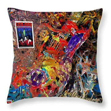 The Red Paintings Throw Pillow