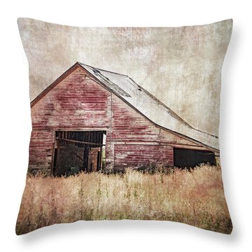 The Red Shed Throw Pillow