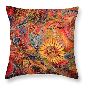 The Red Sirocco Throw Pillow by Elena Kotliarker